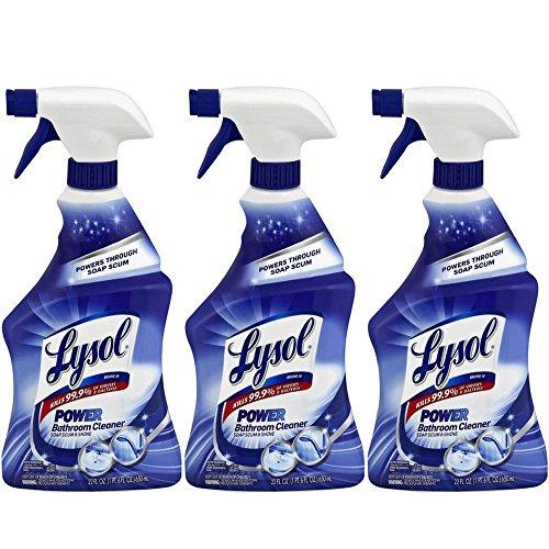 Lysol Power Bathroom Cleaner Spray, 22 oz (Pack of ()