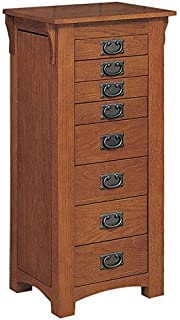 Amazoncom Coaster 900045 Mission Style Jewelry Armoire Oak