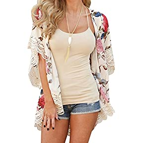 New Women Shawl,kaifongfu Fashion Summer Kimono Cardigan Plus Size Shawl Blouses