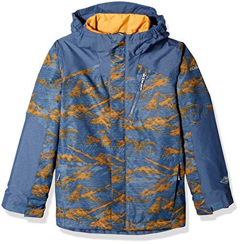 Lightning Ski Jacket - Columbia Big Boys' Whirlibird Ii Interchange Jacket, Dark MTN Mountains Print, Large