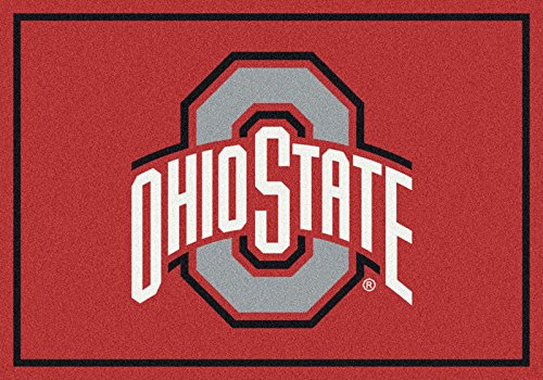 NCAA Team Spirit Door Mat - Ohio State Buckeyes (Gray O), 56'' x 94'' by Millilken