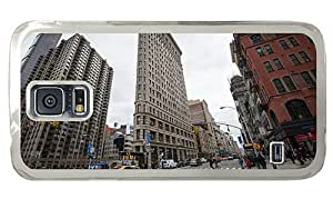 Hipster custom made Samsung Galaxy S5 Case 5th avenue and broadway PC Transparent for Samsung S5