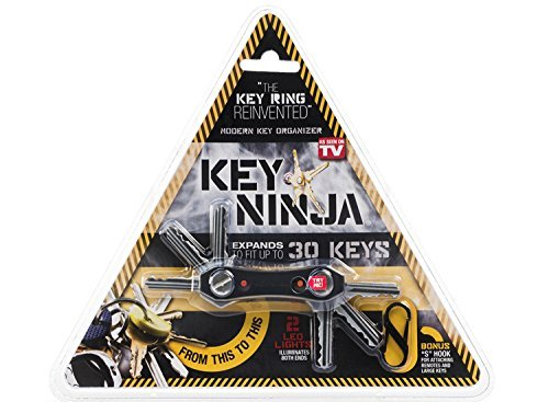 Key Ninja - Organize Up To 30 Keys, Dual LED Lights, Built I