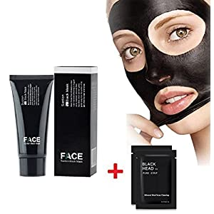 Face apeel Masques Soins du visage Black Masque Blackheads Peel Off Masque Purification profonde Pore Purifiant Noir Tête Anti Acné Tear Type Blackhead Killer (60g) + 2PC Nose Mask