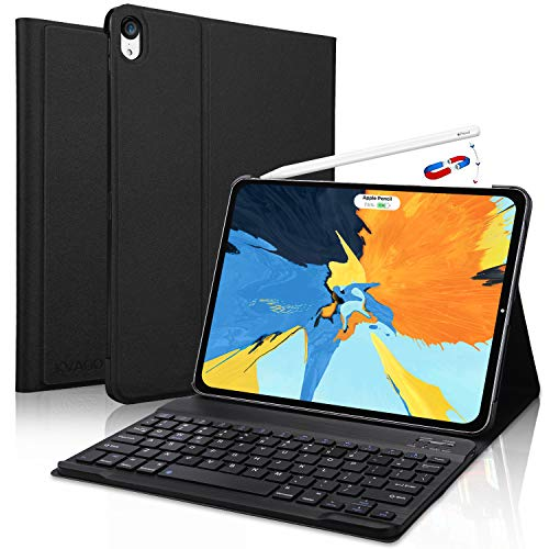 iPad Pro 11 inch Keyboard Case, [Support Apple Pencil Charging] - Detachable Wireless Keyboard Case for iPad Pro 11 inch 2018, Black