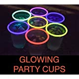 Glo Pro 16oz Multicolor 20-Count Variety Pack Neon Glowing Light Up Cups Glow Party Supplies, Decorations Favors