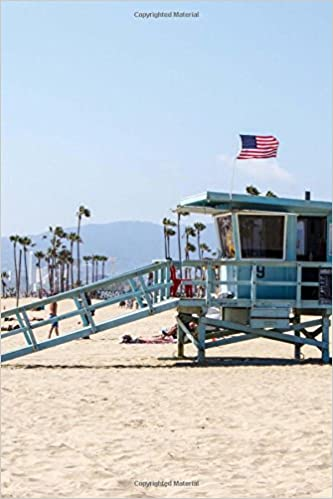 c59d5cf855c Lifeguard Tower on a Beach Near Los Angeles California Journal  Lined  Notebook Diary Paperback – Import