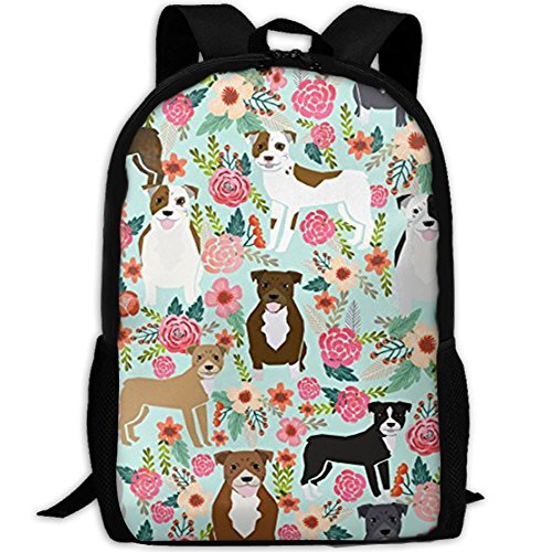 ack Pitbull Terriers Cute Dogs Computer Bag College School Backpack For Women And Men ()