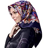 Armine 100% Silk Square Turkish Scarf Islamic Hijab Headscarf Winter 2017 #7685