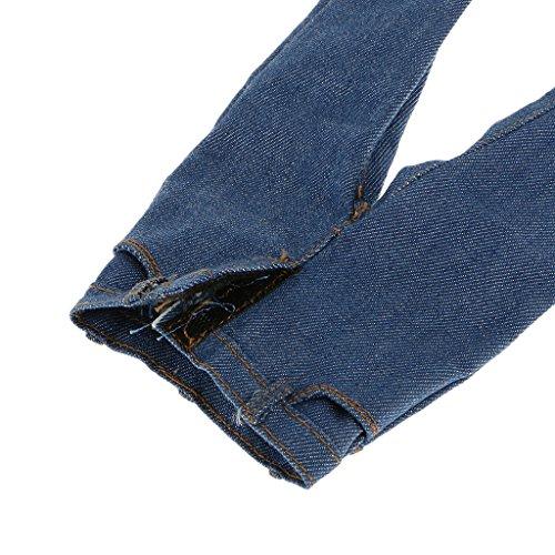 Del Giubbotto Maschile 6th Jeans Blue Misura Regolate Bianco Corpo Sono 1 Uomini Figura Flameer 12