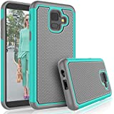 Tekcoo Galaxy A6 Case, for AT&T Samsung Galaxy A6 Cute Case, [Tmajor] Shock Absorbing [Turquoise] Rubber Silicone & Plastic Scratch Resistant Bumper Grip Rugged Sturdy Hard Phone Cases Cover