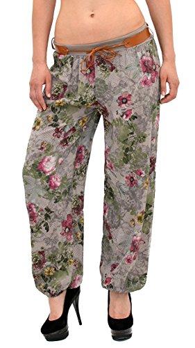 Pantalon Sarouel pour Femme Pantalon Pump Femme Pantalons Harem pour Dames Pantalon de Yoga S12 S17-cappuccino