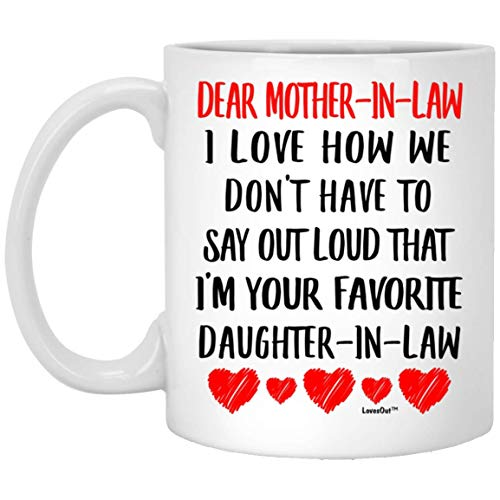 Mother in Law Coffee Mug from Favorite Daughter in Law