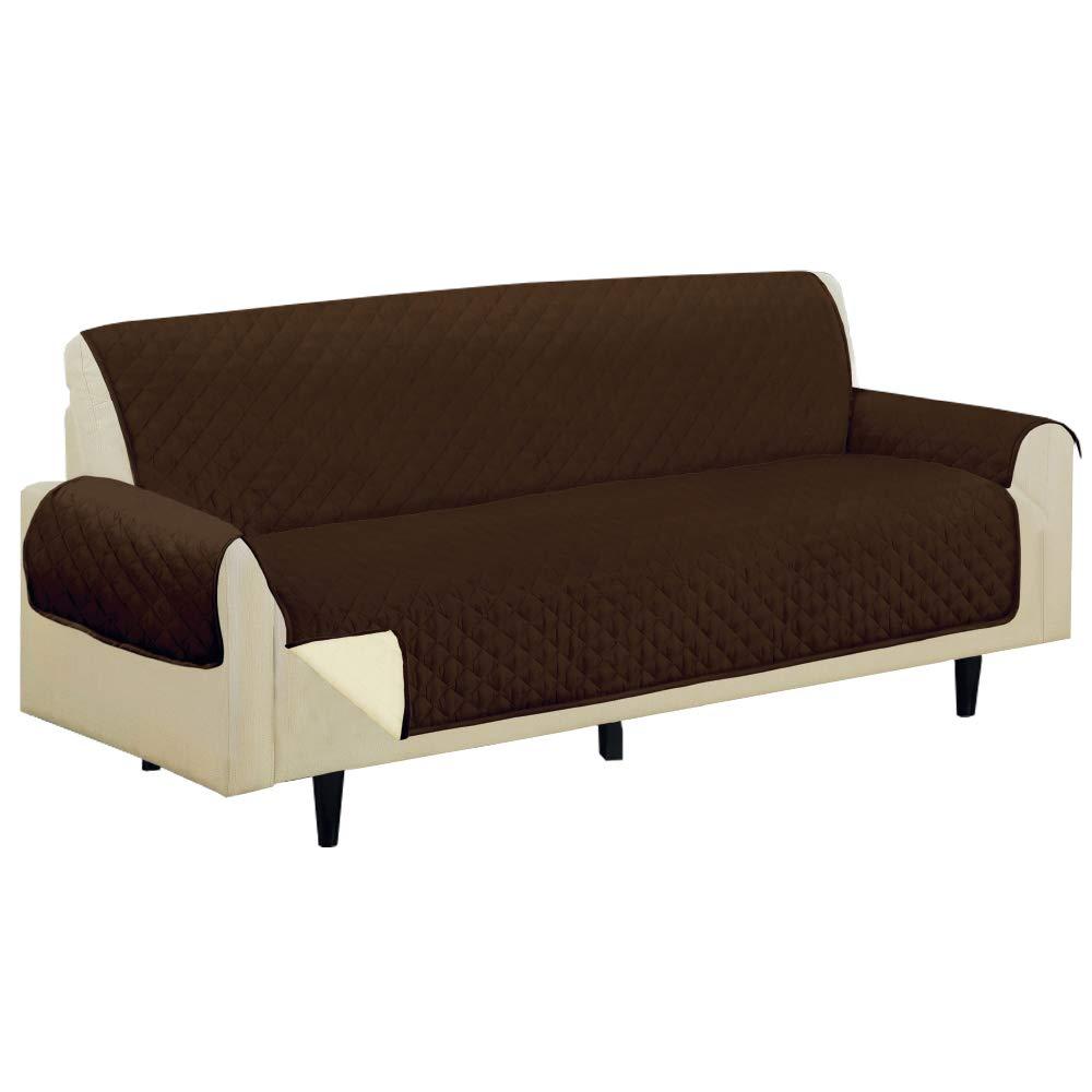 Sofa Saver sofá 3 plazas Visto en TV. Reversible Marrón Y ...