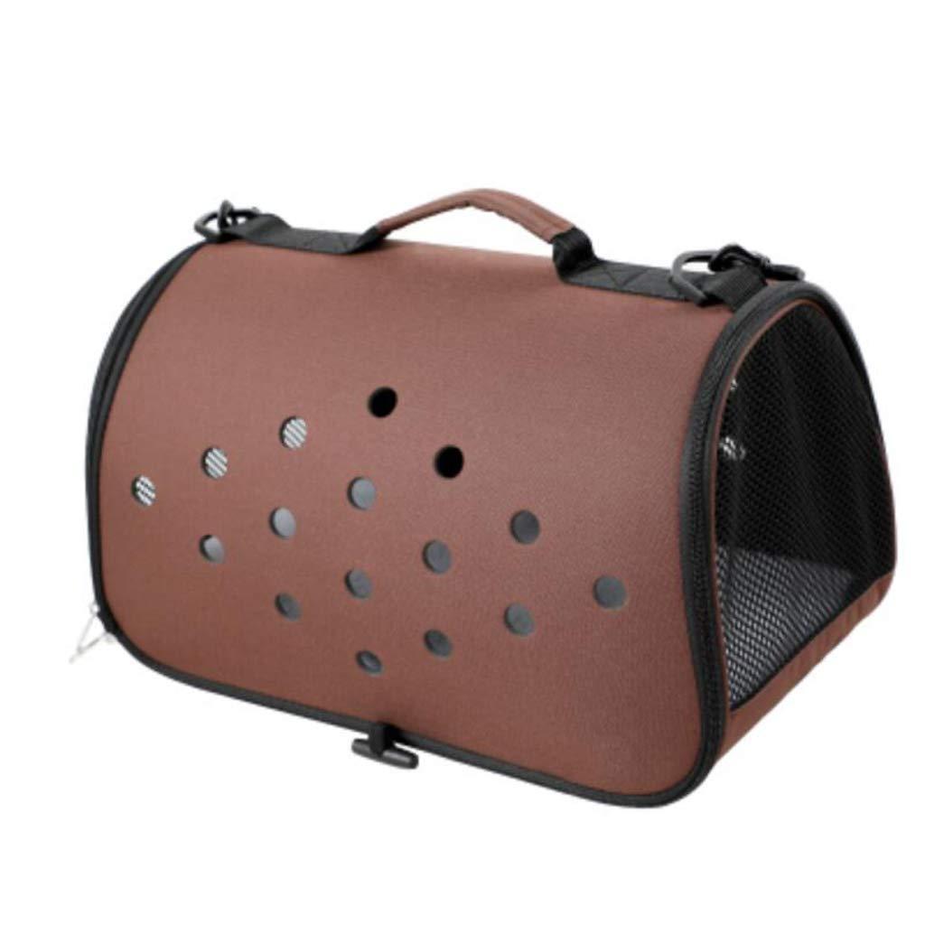 Brown FJH Cat Bag Outing Portable Pet Bag Dog Backpack Cat Cage Pet Out Bag (color   Pink)