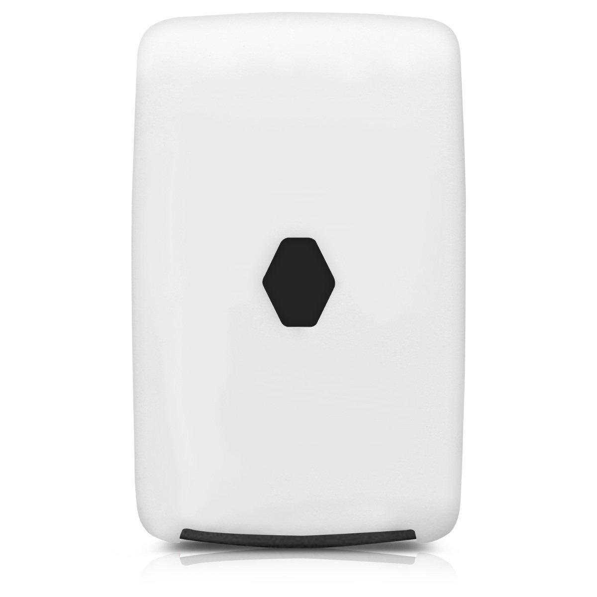 Keyless Go Uniquement Coque pour Clef de Voiture Smart Key /Étui de Protection Souple kwmobile Accessoire cl/é de Voiture pour Renault Renault 4-Bouton en Silicone Blanc-Noir