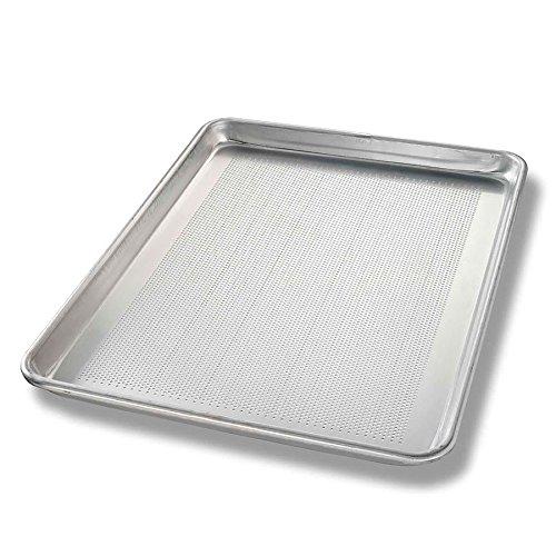 57 Half-size Sheet Pan, Perforated Bottom, Non-coated 18-ga. Aluminum (18 Ga Aluminum Bakeware)