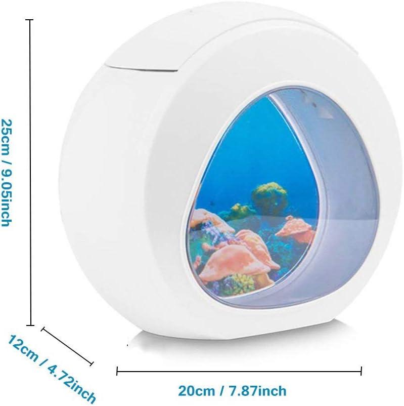 Little ants Mini Aquarium USB LED Lampe M/éduse Veilleuse Ocean LED,Aquarium LED d/éclairage,Cadeaux cr/éatifs pour Enfant et Adulte Lampe dAmbiance Cadeau D/écoration Anniversaire Soir/ée No/ël