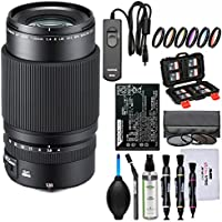 Fujifilm GF 120mm f/4.0 R LM OIS WR Macro Lens with NP-T125 Battery + 3 UV/CPL/ND8 & 9 Color Filters + Remote + Kit