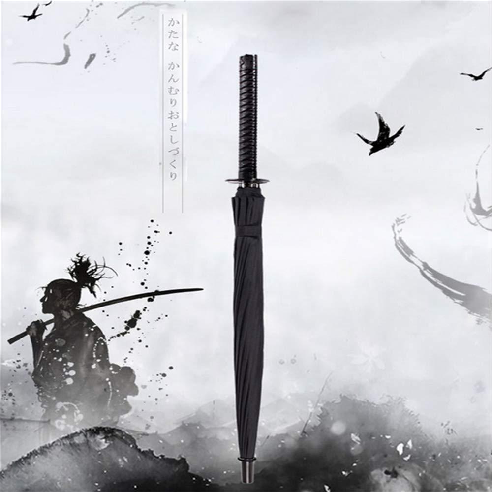 XIAOXIONG Mango Largo Creativo Grande A Prueba De Viento Samurai Espada Paraguas Japon/és Ninja-como Sol Lluvia Directa Paraguas Manual Abierto 8k