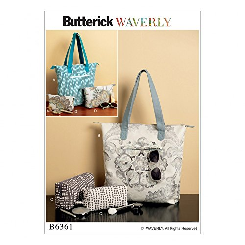 Butterick Accessories Sewing Pattern 6361 Tote Bags & Cosmetic Pouches