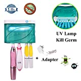 UV Toothbrush Sanitizer, Toothbrush Holder Wall Mounted Sterilizer Cleaner Toothbrush Sanitizer, Kids Toothbrush Holder Zero Germ Baterry-Operated for Family, Kids, Electric Toothbrush