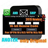 Brazil IPTV Box Activation Renew Code for A1 / A 2/HTV/IPTV 5/IPTV 6/, 16-Digit Activation Code, One Year 400 Days