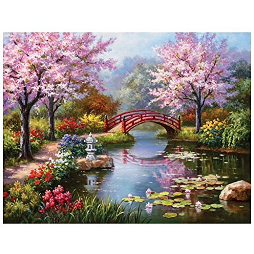 5D DIY Diamond Painting by Number Kits,Rhinestone Embroidery for Wall Decoration Home