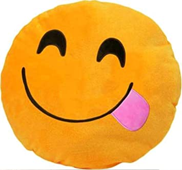 Naxo Supersoft Emoji Cushion Pillow Set of 1-13 x 13