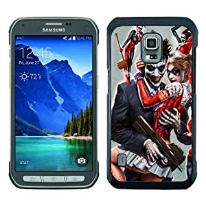 Newest Samsung Galaxy S5 Active Case ,Joker And Harley Quinn Black Samsung Galaxy S5 Active Screen Phone Case Popular Fashion And Durable Designed