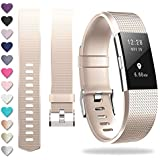 ZEROFIRE Compatible for Fitbit Charge 2, Replacement Adjustable Sport Bands for Charge 2 Heart Rate Fitness Wristbands, Women Men, Small and Large