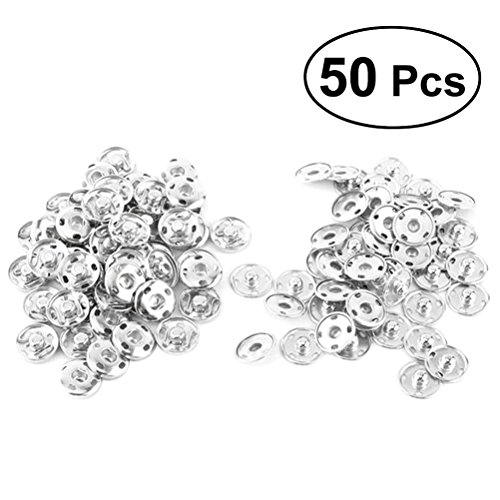 - ULTNICE Sew On Snaps Fasteners Buttons Press Stud Buttons Round Snaps for Clothing 12mm