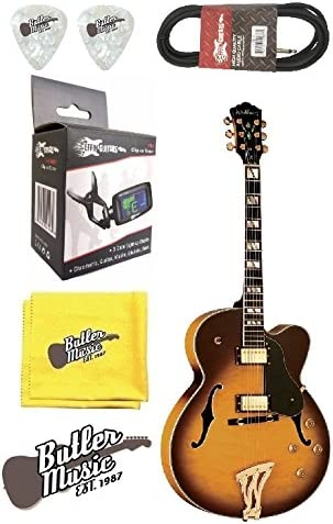 Washburn j5tsk Semi-Hollow Archtop guitarra eléctrica w/, funda ...