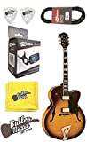 Washburn J5TSK Semi-hollow Archtop Electric Guitar w/Case, Tuner plus More