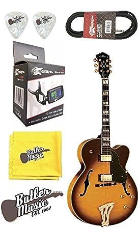 Washburn j5tsk Semi-Hollow Archtop guitarra eléctrica w/, funda, afinador, Plus más: Amazon.es: Instrumentos musicales