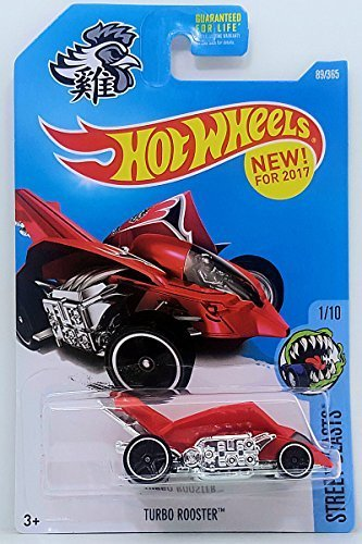 - Hot Wheels 2017 Street Beasts Turbo Rooster (Rooster Car) 89/365, Red