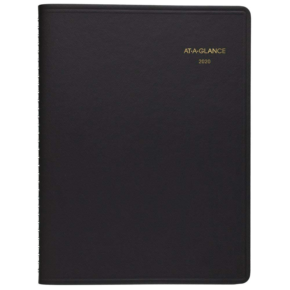 AT-A-GLANCE 2020 Daily Appointment Book, Planner, 8'' x 11'', Large, Two Person Group Book, Black (7022205) by AT-A-GLANCE