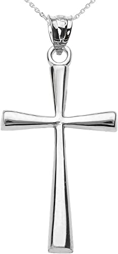 Amazon Com Religious Jewelry By Fdj Solid 10k White Gold Simple