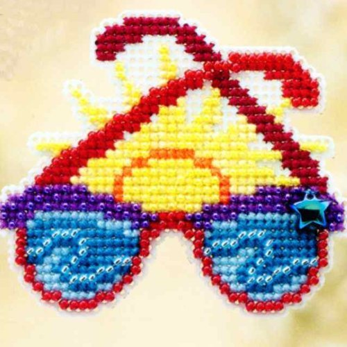 - Shades Beaded Counted Cross Stitch Ornament Kit Mill Hill 2010 Spring Bouquet MH18-0106