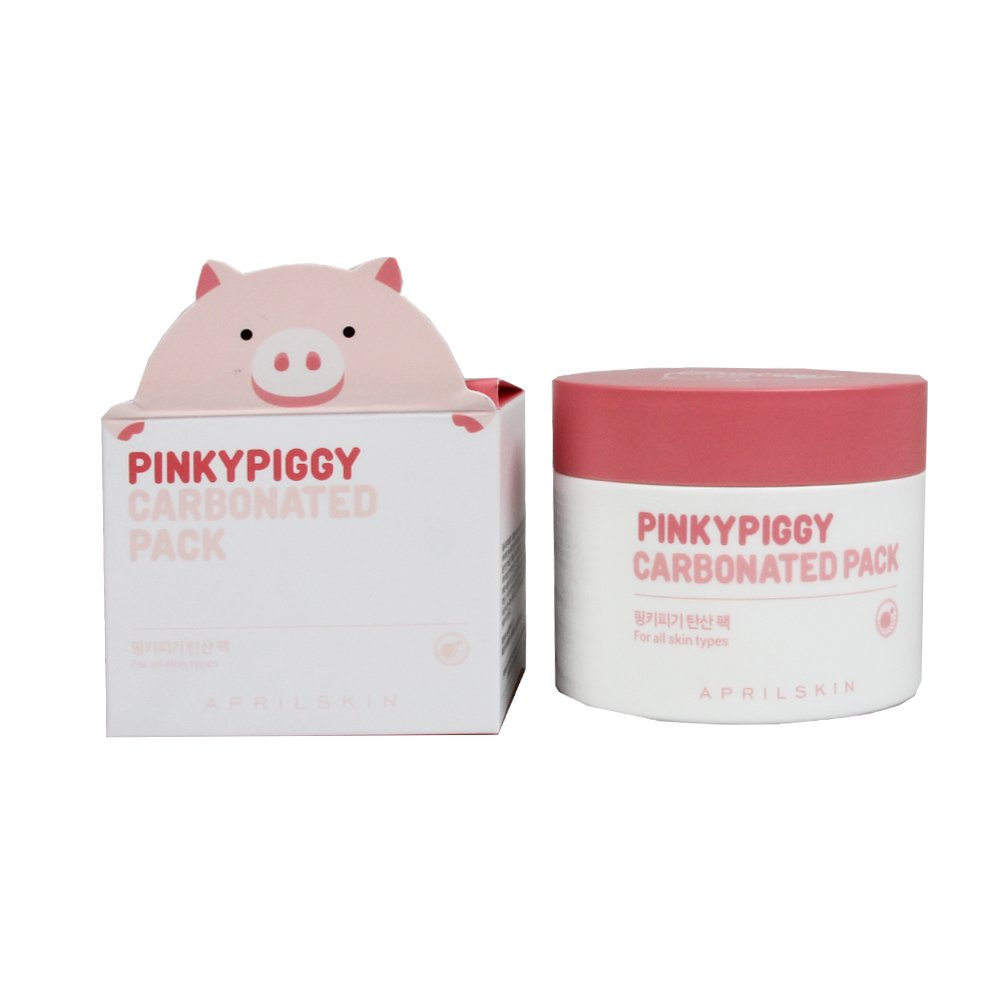 April Skin PinkyPiggy Carbonated Pack 3.38 Ounce / 100 Gram