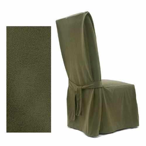 Ultra Suede Classic Olive Dining Slipcover Chair 640