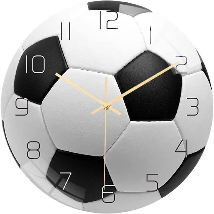 Reloj de Pared Trend Lab Reloj de Pared Balón de fútbol Acrílico Diseño de fútbol Reloj Colgante Reloj silencioso Relojes Colgantes Reloj de Pared Decoración Decoración del hogar