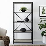 WE Furniture AZS60RMWGW Mixed Material Bookshelf, Grey Wash Review