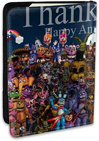 Five Night At Freddy Happy Anniversary5 夜でフレディ パスポートケース メンズ 男女兼用 パスポートカバー パスポート用カバー パスポートバッグ ポーチ 6.5インチ高級PUレザー 三つのカードケース 家族 国内海外旅行用品 多機能