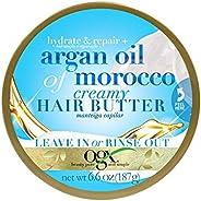Manteiga Capilar Hidratante OGX Hair Butter Argan Oil of Morocco 187g, Ogx