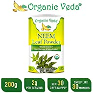 Organic Neem Leaf Powder - 7 Oz. USDA Certified Organic 100% Pure and Natural.