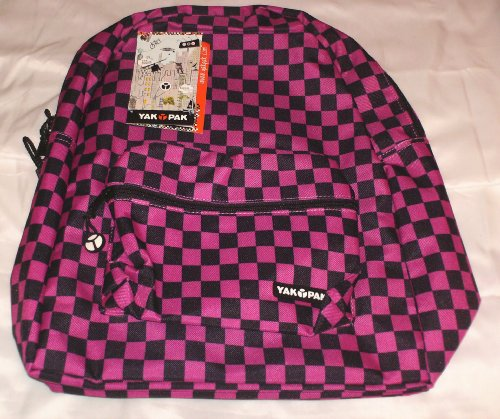 Yak Pak Basic Student Bag Backpack Hot Pink and Black, used for sale  Delivered anywhere in USA