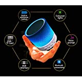 Nanhi Mini Wireless Portable Bluetooth Speaker With LED and Build-in Mic Support AUX TF (White)