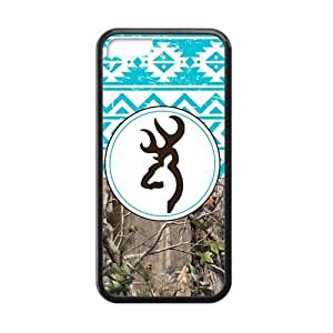 Generic Browning Cutter Blue Tribal Design iPhone 5C Cell Phone Cases Cover(Laster Technology) by ruishername