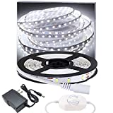 Dimmable LED Light Strip Kit 6000K Daylight White 13ft 240 LEDs Non-Waterproof LED Tape